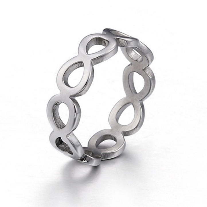 JaneE brown stainless steel promise rings fashion design for men