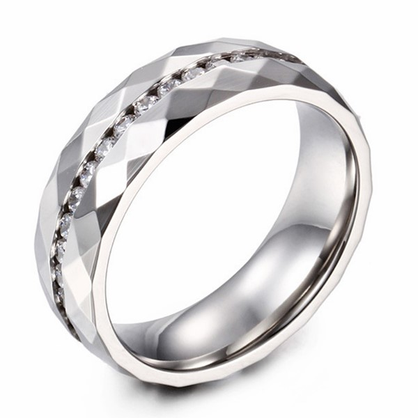 JaneE milgrain stainless steel couple rings top quality for decoration-4
