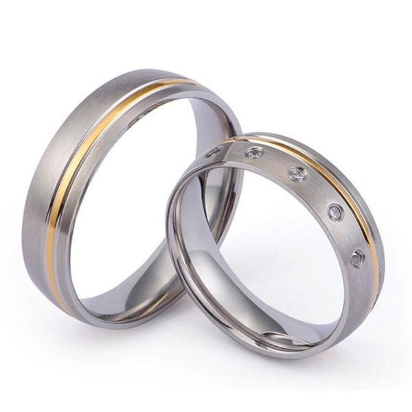 JaneE 316l stainless steel custom titanium wedding bands simple for anniversary-1