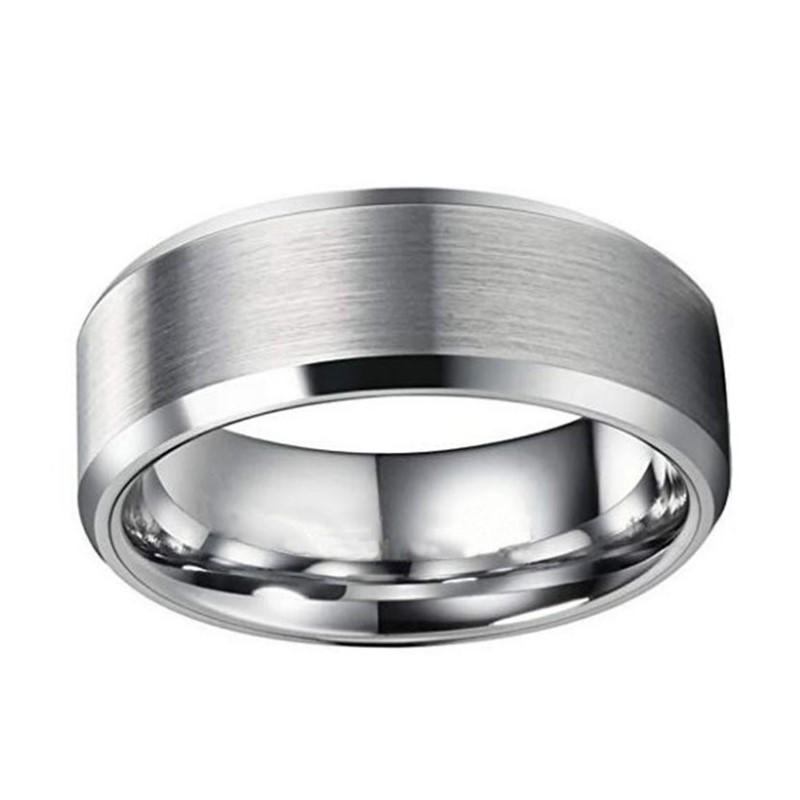 JaneE square edges steel band ring comfortable for decoration-3