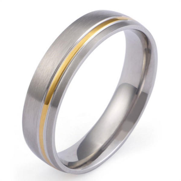 JaneE 316l stainless steel custom titanium wedding bands simple for anniversary-2
