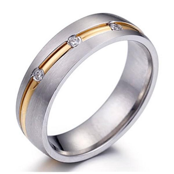 JaneE square edges stainless steel promise rings top quality for men-2