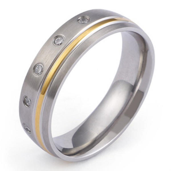 JaneE 316l stainless steel custom titanium wedding bands simple for anniversary-3