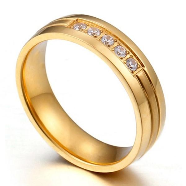 shiny custom stainless steel rings inlay top quality for men-1