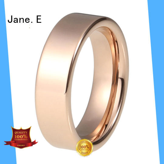 plating stainless steel promise rings 18k gold for decoration JaneE