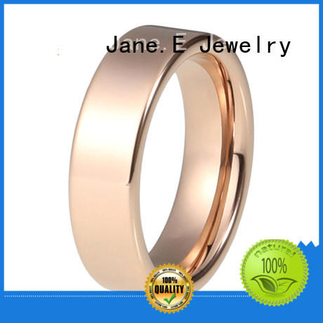 JaneE customized cheap stainless steel rings comfortable for men