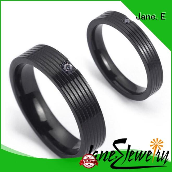 shiny stainless steel cz rings milgrain top quality for decoration