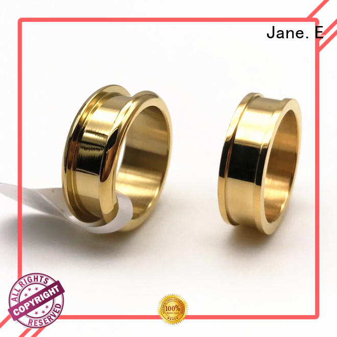 JaneE square edges stainless steel promise rings for him comfortable for men