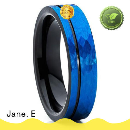 JaneE traditional mens black wedding bands exquisite for wedding