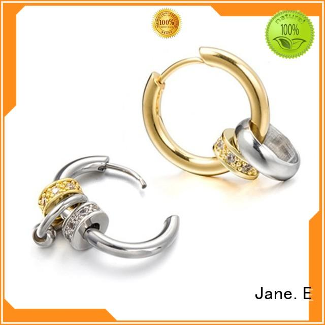 round surgical stainless steel earrings blanks durable for women