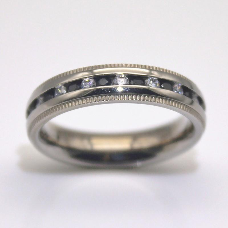 JaneE blue custom stainless steel rings top quality for men-2