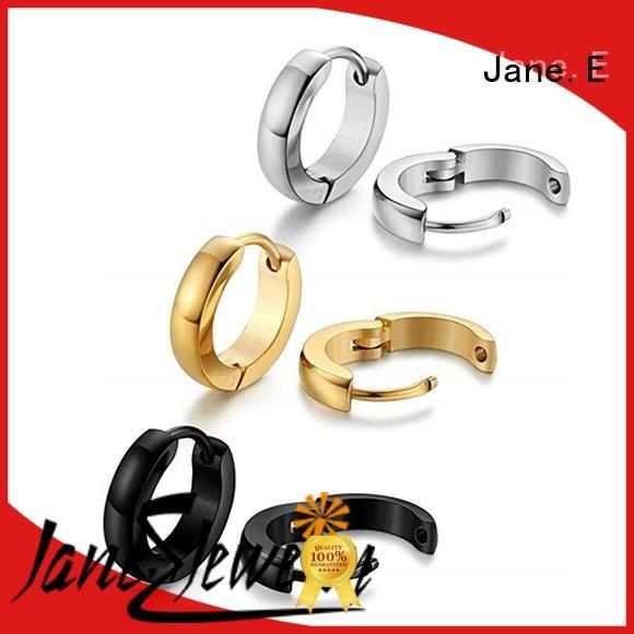 JaneE exchangeable surgical steel hoop earrings comfortable for decoration
