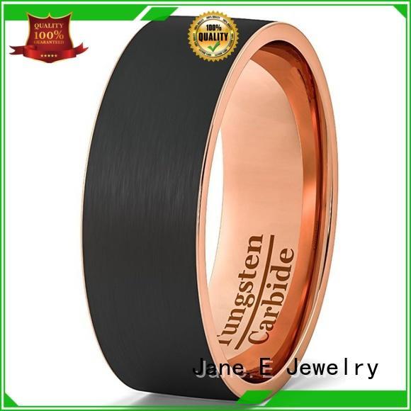 JaneE koa wood tungsten wedding bands for her matt for engagement