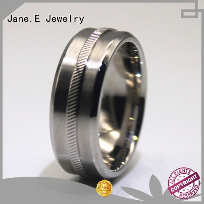 shiny black steel ring blue comfortable for decoration