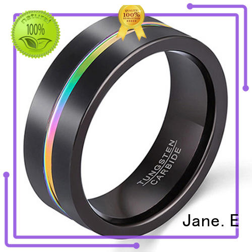 multi colors womens tungsten wedding bands inlay brushed engraved for gift