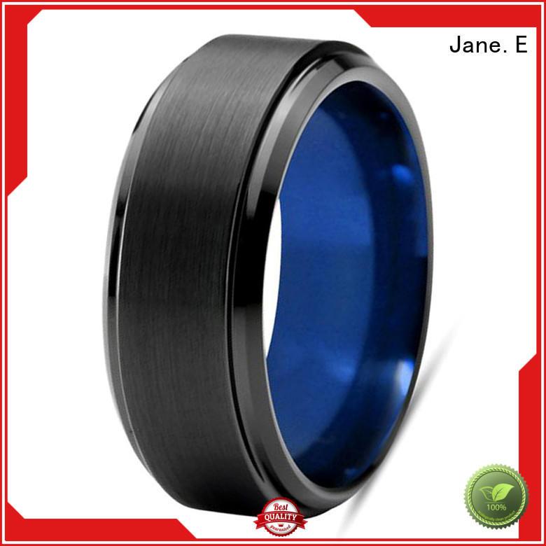 multi colors black tungsten ring two tones matt for engagement