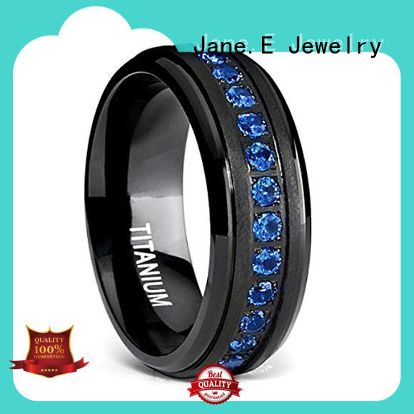 JaneE yellow gold titanium rings for women wholesale for anniversary