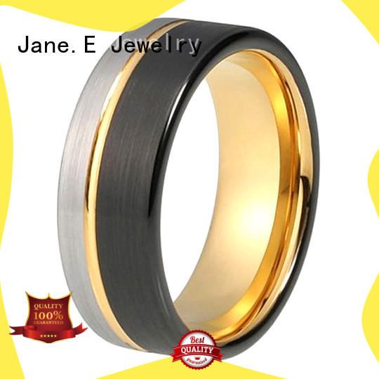 JaneE multi colors 6mm tungsten ring exquisite for engagement