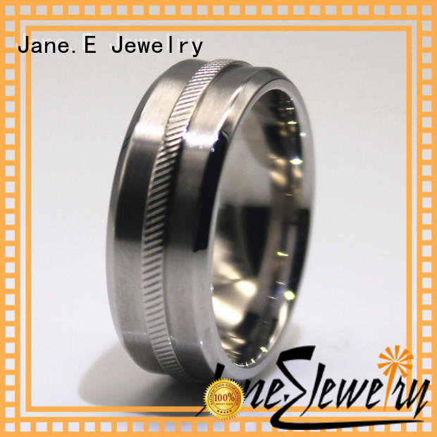 JaneE factory direct stainless steel rose gold ring comfortable for men
