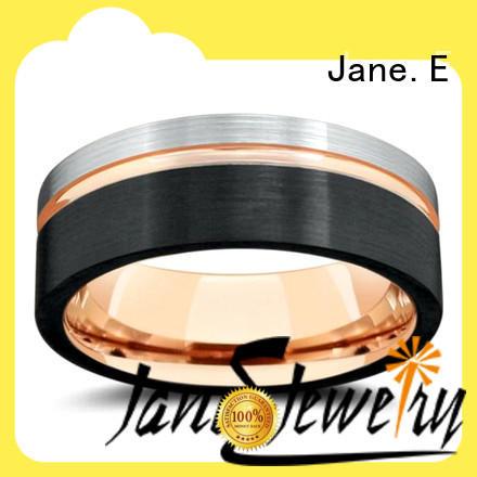 JaneE unique design tungsten carbide ring price engraved for wedding
