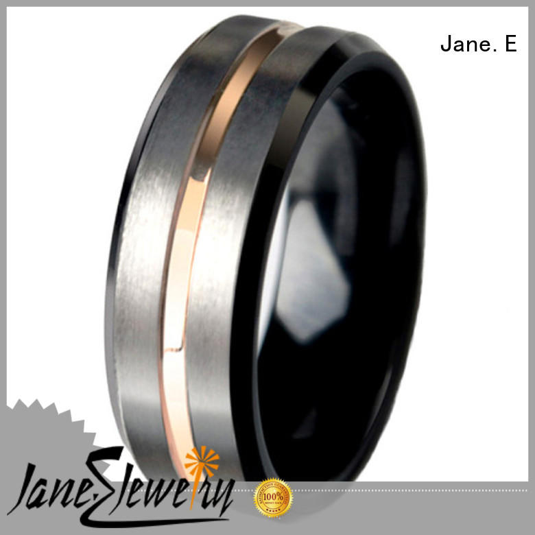 JaneE multi colors white tungsten wedding band matt for wedding