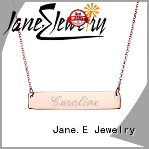JaneE polished surface custom stainless steel necklace factory direct for decoration