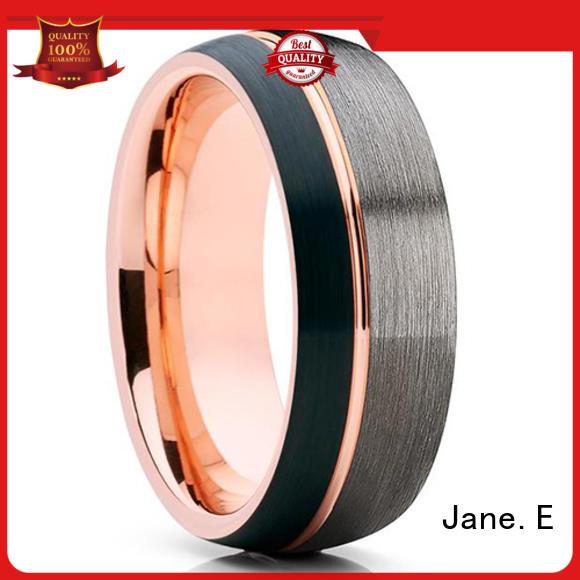 JaneE multi colors tungsten ring price matt for engagement