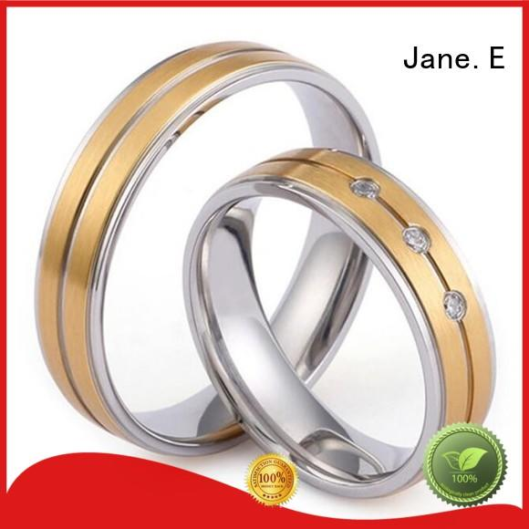 factory direct stainless steel wedding band AAA CZ Stones multi colors for weddings