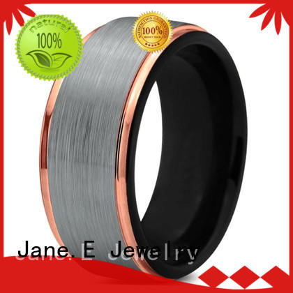 JaneE red opal mens gold tungsten wedding bands exquisite for wedding