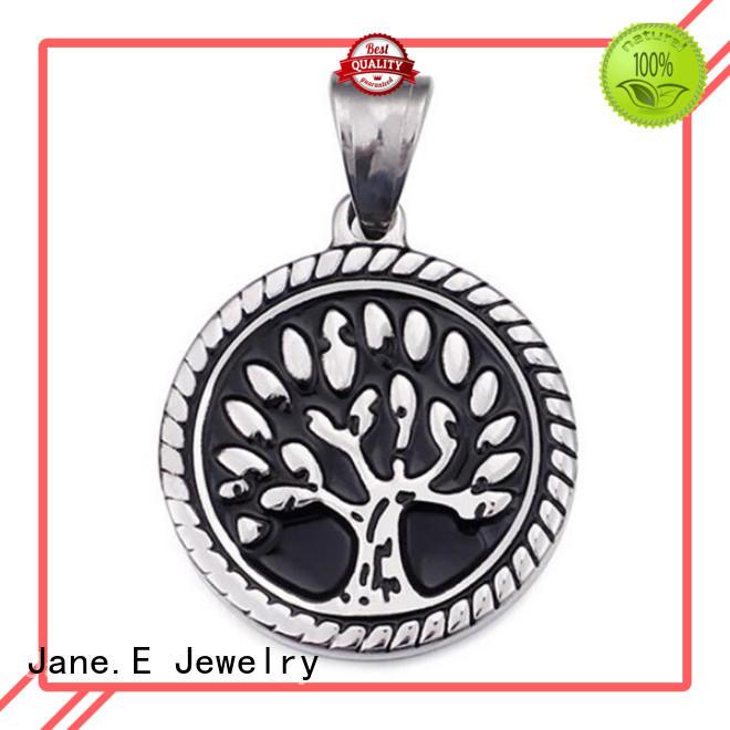 fashion mens stainless steel pendant black plated custom for men