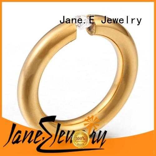 JaneE factory direct stainless steel ring top quality for decoration
