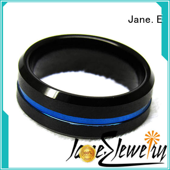 traditional 6mm tungsten ring inlay brushed exquisite for gift