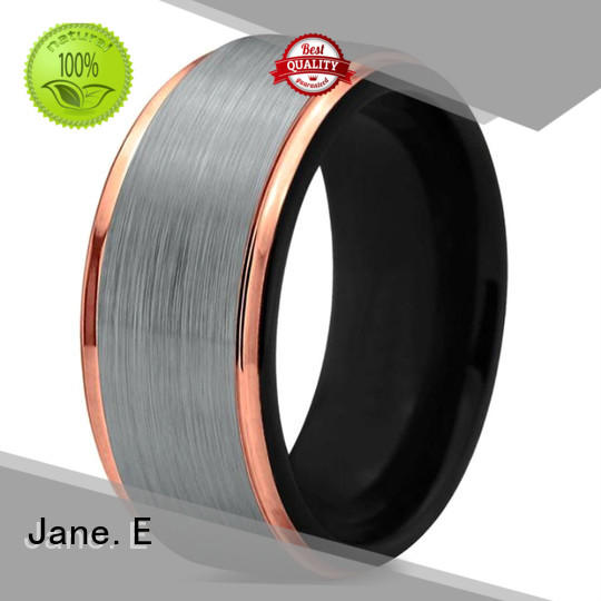 JaneE traditional 8mm tungsten ring matt for engagement