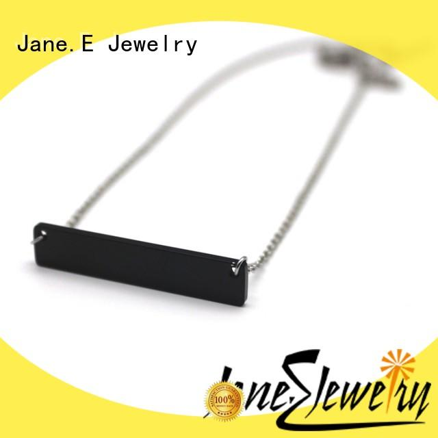 JaneE aromatherapy custom stainless steel necklace factory direct manufacturer