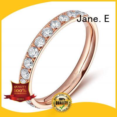 JaneE hypoallergenic men's titanium wedding band factory direct for engagement