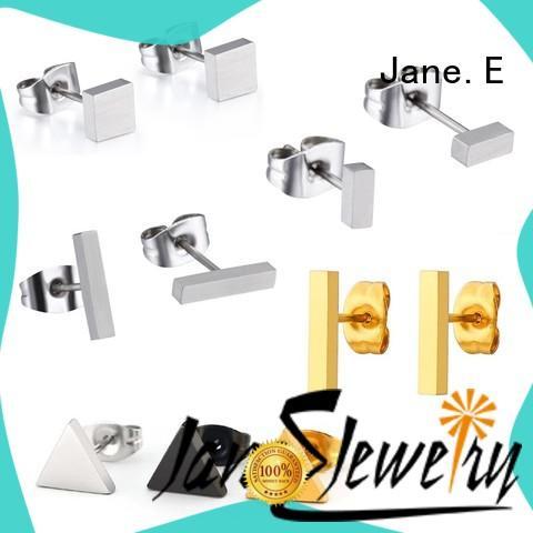 custom made hypoallergenic earrings anodized IP gold for girl