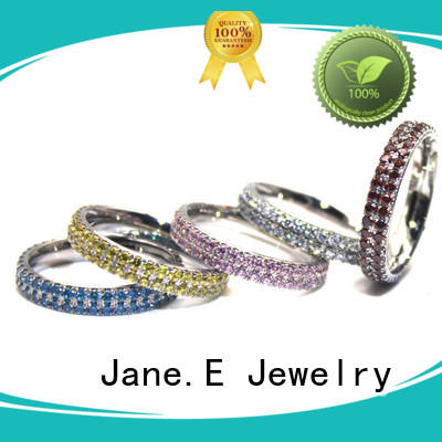 brown simple stainless steel rings fashion design for decoration JaneE