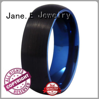 JaneE two tones rose gold tungsten ring exquisite for wedding