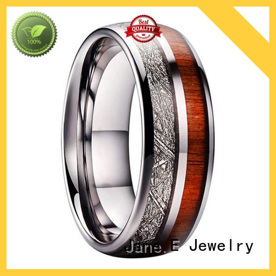 JaneE multi colors rose gold tungsten mens wedding band exquisite for wedding