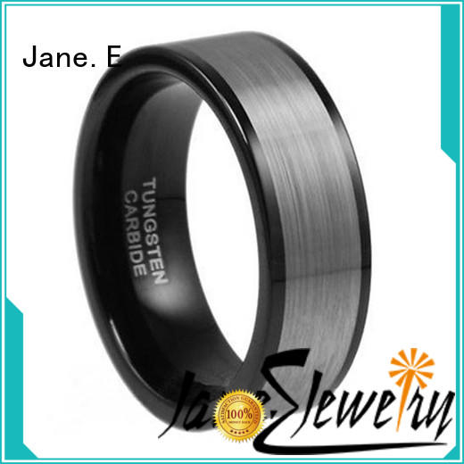 mens blue tungsten wedding bands red opal for wedding JaneE