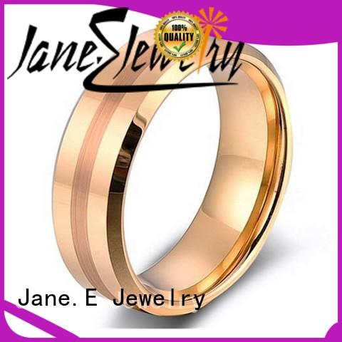 JaneE damascus texture mens tungsten ring exquisite for engagement