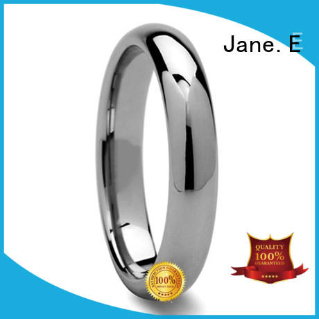 JaneE two tones tungsten carbide mens rings matt for engagement