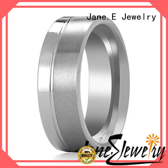 JaneE traditional tungsten carbide rings matt for engagement