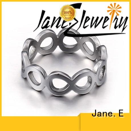 JaneE AAA CZ Stones men's wedding band multi colors for decoration