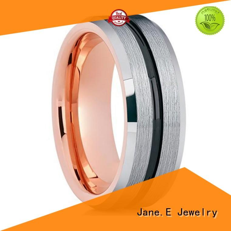 black wedding rings for men meteorite for wedding JaneE