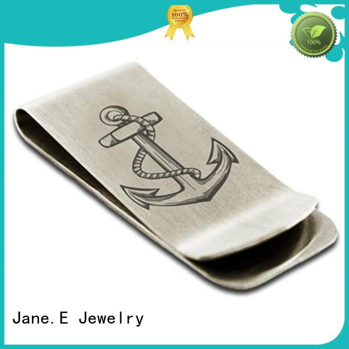 JaneE hot selling mens money clip adjustable for men's wallet