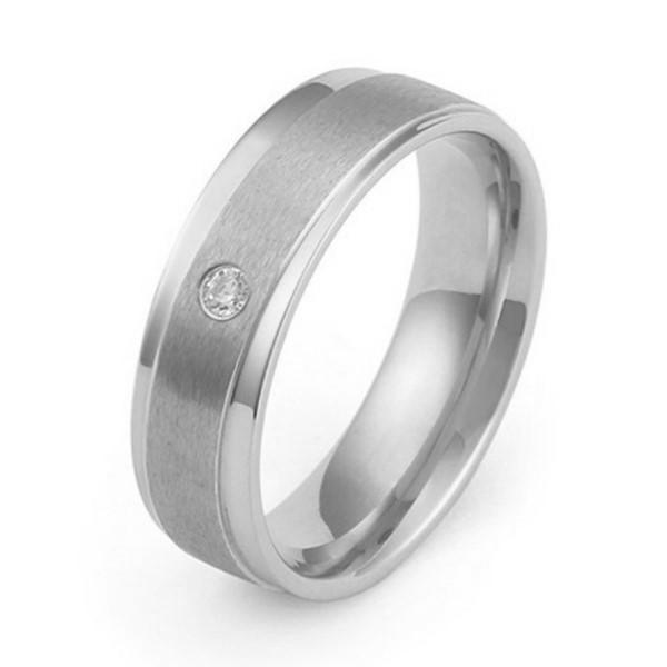 JaneE square edges simple stainless steel rings multi colors for men-3