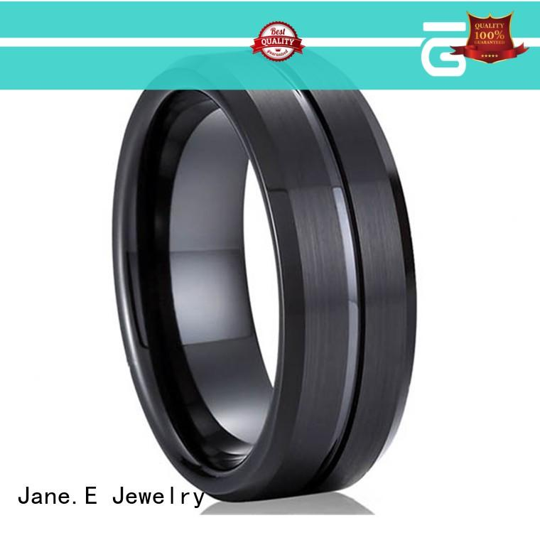 traditional womens tungsten wedding bands red opal engraved for wedding