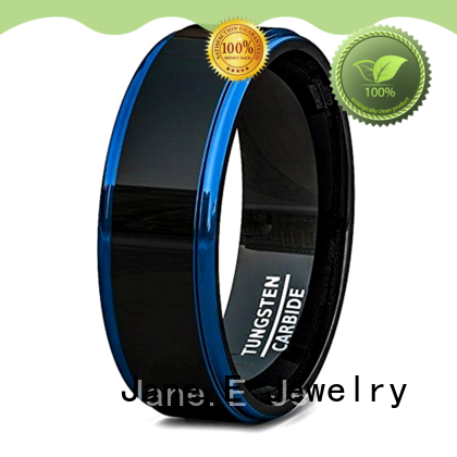 multi colors black tungsten carbide rings damascus texture matt for wedding