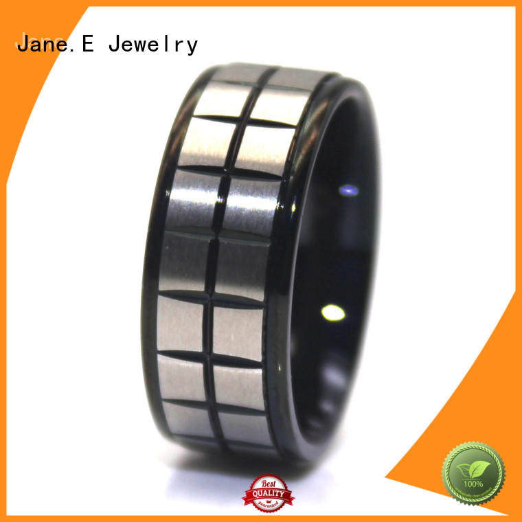 shiny stainless steel rose gold ring gunmetal multi colors for weddings